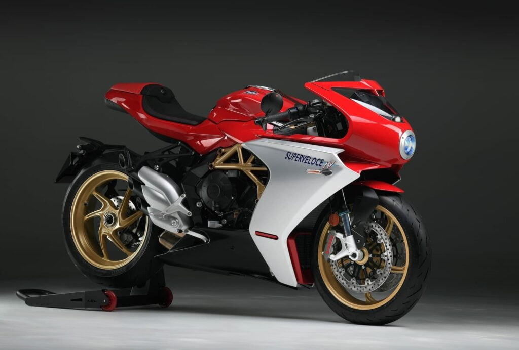 mv agusta superveloce with cornering abs