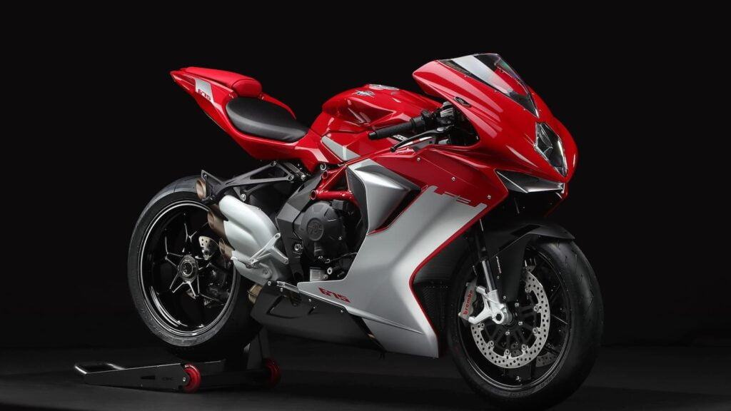 MV Agusta F3 576 triple cylinder single-sided swingarm sportbike