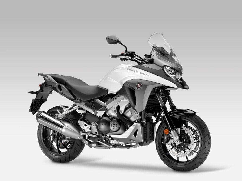 White Honda VFR800X diagonal profile 2015 2nd gen