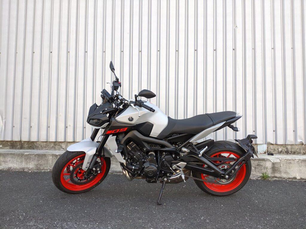 A 2018 Yamaha MT-09 I had in France