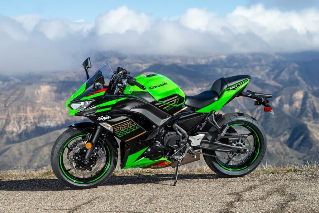 2020 Kawasaki Ninja 650 vs Honda VFR800 — photo by Kevin Wing
