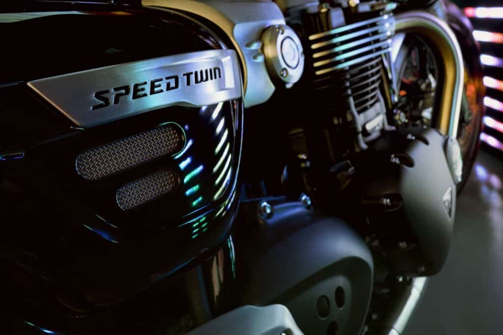 Detail photo of Triumph Speed Twin engine