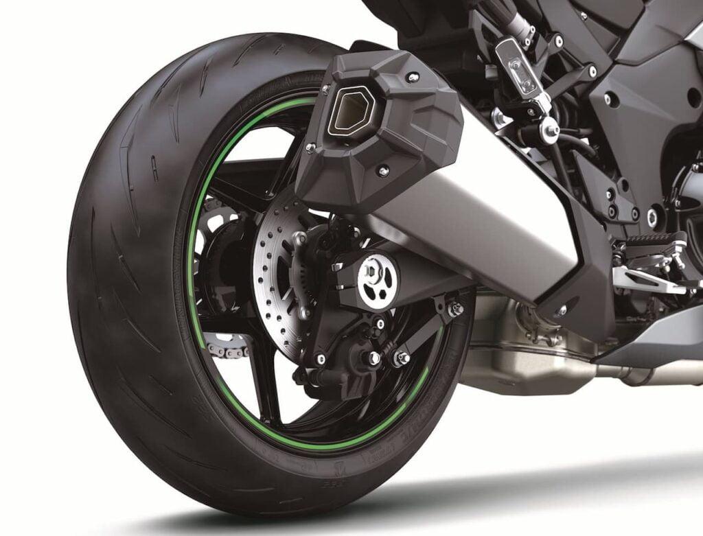 2020 2021 Kawasaki Ninja 1000 rear wheel brake silencer