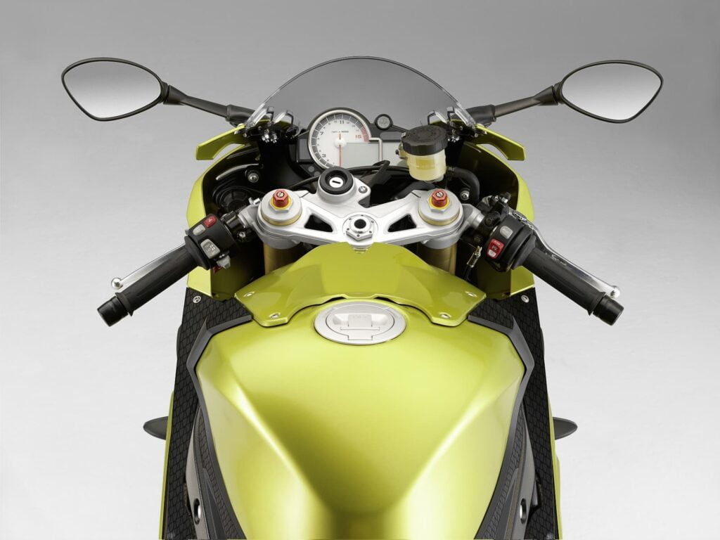 2009 2010 2011 BMW S 1000 RR gold controls and instruments