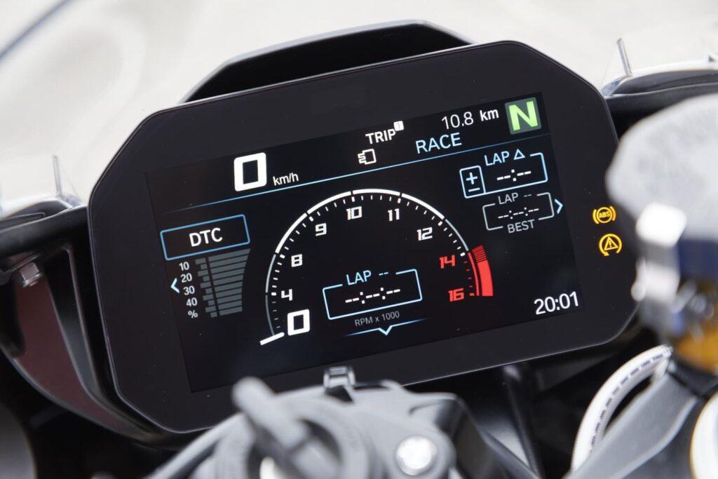 2019 2020 BMW S 1000 RR TFT display instrument cluster