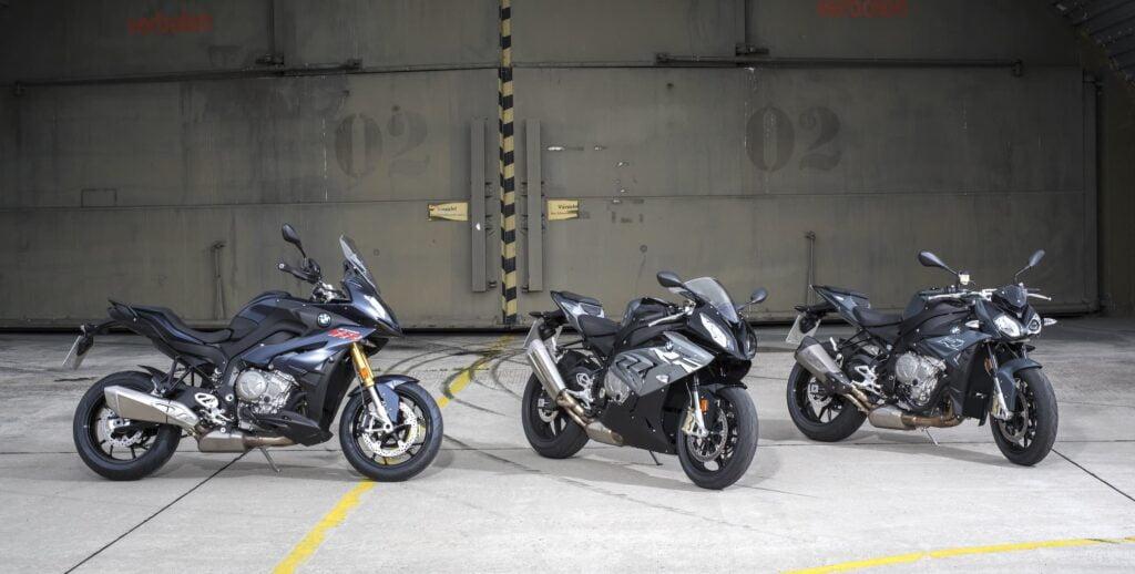 BMW S 1000 XR S 1000 RR S 1000 R side by side