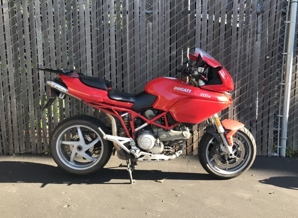 Ducati Multistrada 1000DS parked at work
