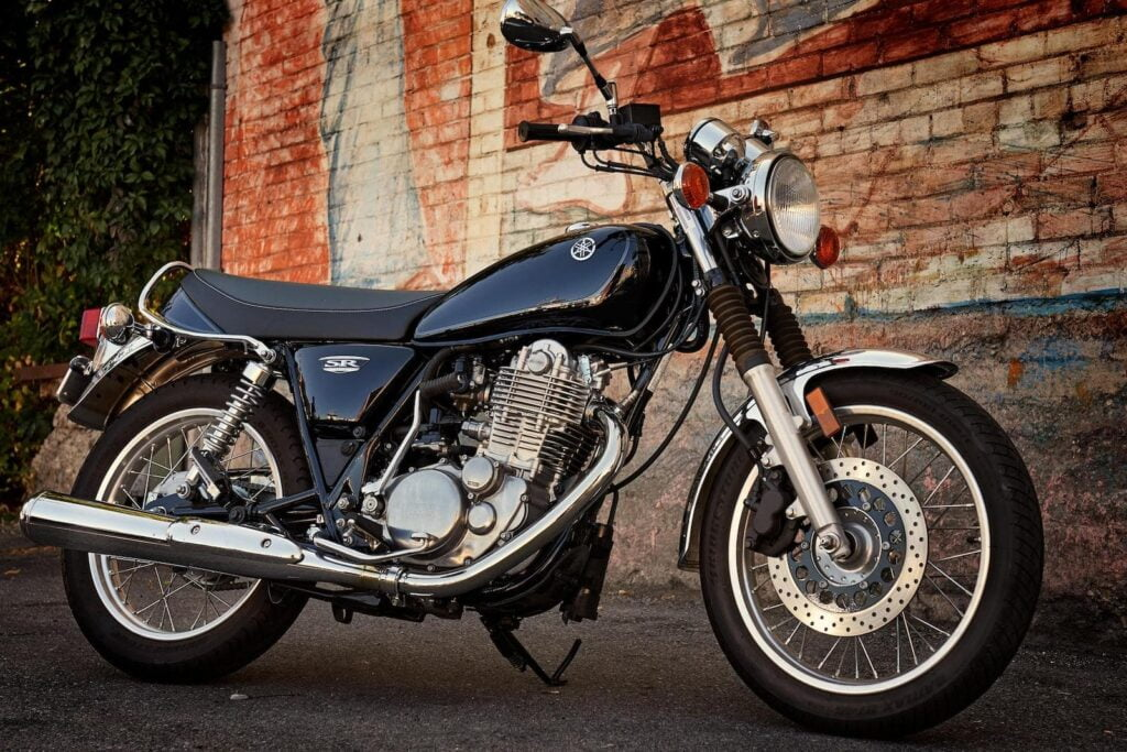 Yamaha SR400, an air-cooled motorcycle no longer in production