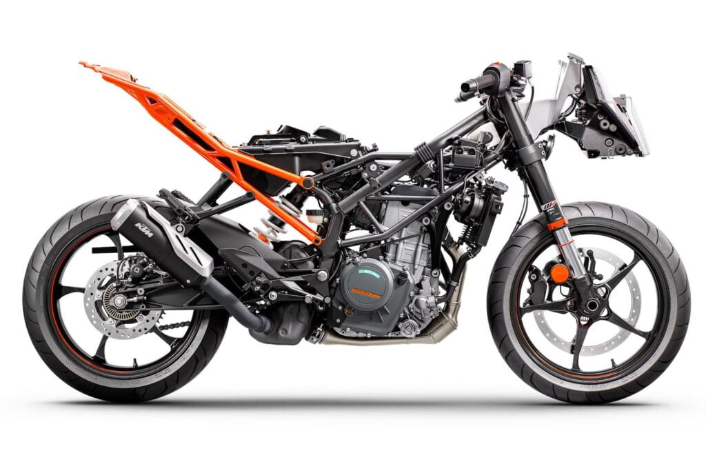2022 KTM RC 390 RHS suspension chassis