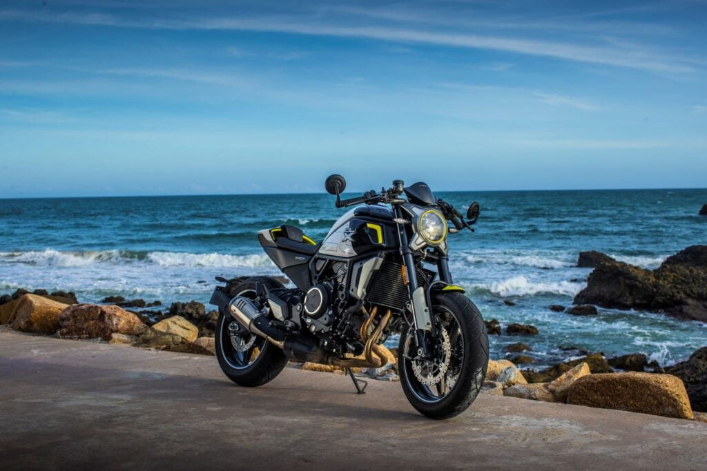 CFMoto 700CL-X Sport RHS with ocean background