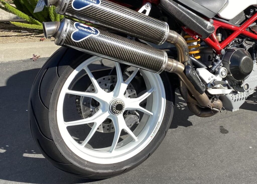 Ducati Monster S4Rs marchesini rear wheel and termignoni exhaust